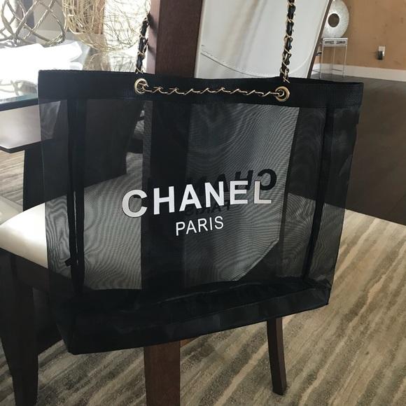 b2315bdf2b3012 CHANEL Bags | Paris Vip Gift Mesh Tote | Poshmark
